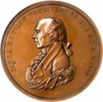1809 (Post-1861) James Madison Indian Peace Medal. Large Size. Bronze. 76 mm. Julian IP-5. First Rev