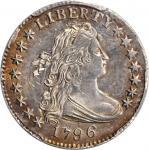1796 Draped Bust Dime. JR-2. Rarity-4. MS-62+ (PCGS).