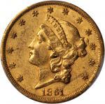 1861-S自由帽双鹰金币 PCGS AU 53
