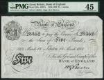 Bank of England, Horace Bowen (1893-1902), 」5, London 18 March 1901, serial number J/I 28352, black