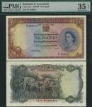 Bank of Rhodesia and Nyasaland, £10, 3 July 1959, serial numbers Z/1 556929, brown and blue on multi