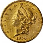1856-S Liberty Head Double Eagle. AU-58 (PCGS).