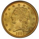 1836 Classic Head Quarter Eagle. McCloskey-6. Block 8. Mint State-66 (PCGS).