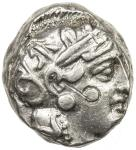 ATHENS 40ATTICA41: ca。 393-300 BC, AR tetradrachm 4017。21g41, S-2537, helmeted bust of Athena right