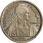 1939-A年20美分镍代用样币。巴黎造币厂。FRENCH INDO-CHINA. Nickel 20 Cents Essai (Pattern), 1939. Paris Mint. PCGS SP