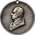 1841 John Tyler Indian Peace Medal. Silver. Third Size. Julian IP-23, Prucha-45. Very Fine, or so.