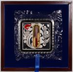 2008年第29届奥林匹克运动会纪念金银砖 近未流通 commemorative gold gilded silver medallion for the Torch Relay of the Bei