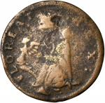 Undated (ca. 1652-1674) St. Patrick Farthing. Martin 1c.16-Ca.7, Breen-208, W-11500. Rarity-6+. Copp