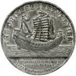 1848年中国帆船耆英号纪念章 优美