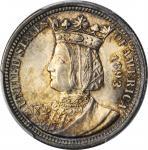 1893 Isabella Quarter. MS-64 (PCGS).