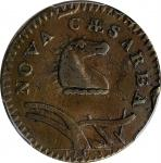 1786 New Jersey Copper. Maris 23-P, W-4940. Rarity-4. Narrow Shield, Curved Plow Beam, Blundered Six
