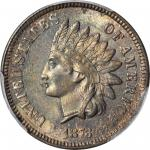 1873 Indian Cent. Close 3. Snow-1a, FS-101. Doubled LIBERTY. MS-64 BN (PCGS).