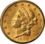 1859-S Liberty Head Double Eagle. MS-61 (PCGS).