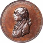 1809 James Madison Indian Peace Medal. Small Size. Bronzed Copper. 51 mm. Julian IP-7. Specimen-65 (