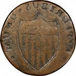 1787 New Jersey copper. Maris Reverse T Brockage. Fine-15 (PCGS).