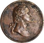 1776 (1790) Washington Before Boston Medal. Original. Bronze. 68.7 mm. 2,124.4 grains. Baker-47B. Ra
