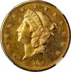1904 Liberty Head Double Eagle. MS-64 PL (NGC).