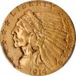 1914-D Indian Quarter Eagle. Unc Details--Scratch (PCGS).