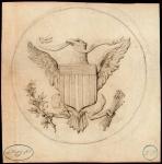 1790年美国钱币设计草图 完未流通