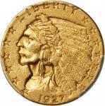 1927 Indian Quarter Eagle. AU Details--Rim Damage (PCGS).