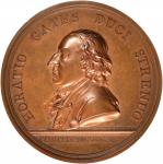 1777 General Horatio Gates, Battle of Saratoga Medal. Original Dies. Bronze. 55.4 mm. By Nicolas Mar