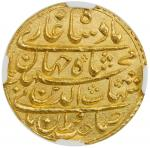 India - Mughal Empire. MUGHAL: Shah Jahan I, 1628-1658, AV mohur, Surat, year 2, KM-255.6, month of