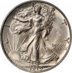 1919-D Walking Liberty Half Dollar. MS-64 (PCGS).