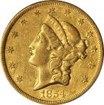 1854 Liberty Head Double Eagle. Small Date. EF-45 (PCGS).