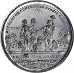 1783 Treaty of Paris Medal. White Metal, with Copper Plug. 42 mm. By John Reich. Betts-610, Eimer-80
