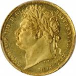 GREAT BRITAIN. Sovereign, 1822. London Mint. George IV. PCGS MS-62 Gold Shield.