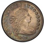 1804 Draped Bust Dime. 1804 14 Star. John Reich-2. Rarity-5. About Uncirculated-53 (PCGS).PCGS Popul