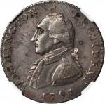 1791 Large Eagle Cent. Musante GW-15, Baker-15, W-10610. Lettered Edge. AU Details--Corrosion (NGC).