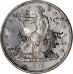 1875-CC Trade Dollar. Type I/I--Chopmark--AU-50 (PCGS).
