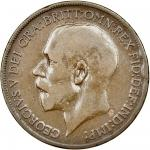 George V (1910-36), Penny, 1922, with reverse of 1927, bare head left, rev. Britannia seated right,