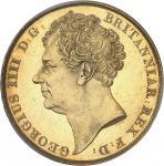GRANDE-BRETAGNE Guillaume IV (1830-1837). 2 livres (2 pounds) 1823, Londres.
