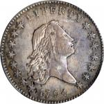 1794 Flowing Hair Half Dollar. O-103, T-10. Rarity-6. VG Details--Damage (PCGS).