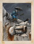 Enki BILAL Ne en 1951DIE MAUER BERLINLE CORBEAUEncre de Chine et gouache sur papier pour une planche