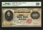 Fr. 1225h. 1900 $10,000 Gold Certificate. PMG Very Fine 30.