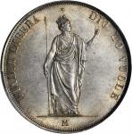 ITALY. Lombardy-Venetia. 5 Lire, 1848-M. PCGS MS-63 Secure Holder.