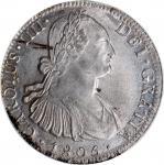 1805-MO TH墨西哥8鹰洋银币,PCGS MS63