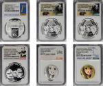 2016年宁波钱业会馆设立90周年纪念银币30克等一组6枚 NGC