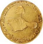 MEXICO. 8 Escudos, 1859-Zs MO. Zacatecas Mint. PCGS Genuine--Cleaned, AU Details Gold Shield.