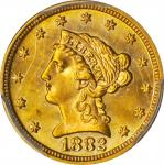 1882 Liberty Head Quarter Eagle. MS-64+ (PCGS). CAC.
