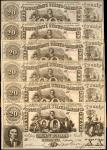 Lot of (6) CT-20. Confederate Currency. 1861 $20. About Uncirculated/Choice Uncirculated. Contempora