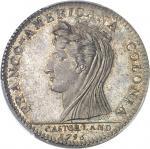USA Castorland (1792-1800). Jeton d'un 1/2 dollar, frappe postérieure avec coins d'origine 1796 (184