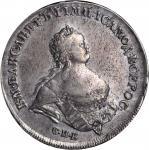 RUSSIA. Ruble, 1741-CNB. Elizabeth (1741-62). NGC AU-53.