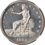 1883 Trade Dollar. Proof Details--Obverse Scratched (NGC).