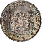 MEXICO. 4 Reales, 1744-MoMF. PCGS AU-58 Secure Holder.