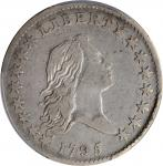 1795 Flowing Hair Half Dollar. O-131, T-9. Rarity-4+. Two Leaves. VF-25 (PCGS).