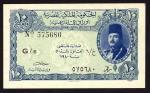 Egyptian Currency Note, 10 piastres, 1940, prefix G/6, minister of finance on reverse (Pick 168a, TB